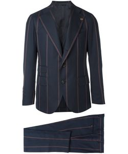 Gabriele Pasini   Two-Piece Striped Suit Mens Size 48 Polyester/Wool/Viscose