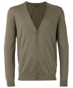 Laneus | V-Neck Cardigan Mens Size 54 Silk/Cashmere
