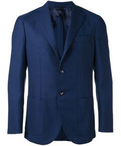 Barba | Patch Pockets Blazer Mens Size 54 Virgin Wool