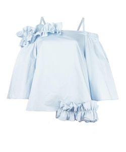 Paskal | Ruched Blouse Womens Size Medium Cotton/Spandex/Elastane