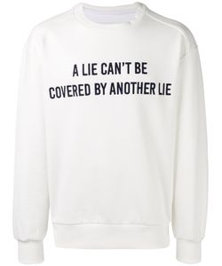 Juun.J | A Lie Print Sweatshirt Mens Size 46 Cotton