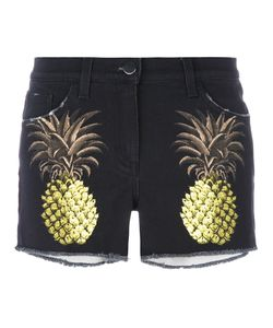 Giamba | Pineapple Shorts Womens Size 42 Cotton/Spandex/Elastane/Leather