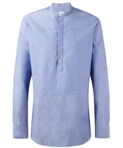E. Tautz | Grandad Collar Shirt Mens Size 15 1/2 Cotton