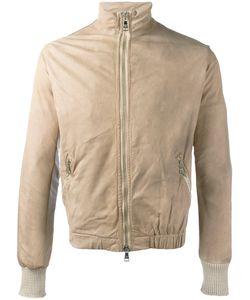 Giorgio Brato   Zip Up Jacket Mens Size 46 Cotton/Leather/Nylon