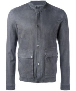 Salvatore Santoro | Buttoned Leather Jacket Mens Size 48 Leather/Cotton