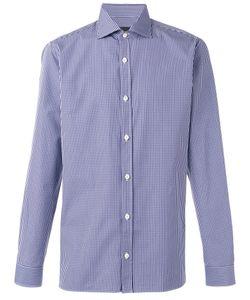 Z Zegna | Checked Shirt Mens Size 40 Cotton