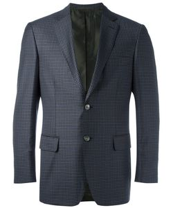 Brioni | Checked Blazer Mens Size 56 Cupro/Wool