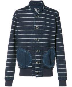 Prps | High Neck Striped Cardigan Mens Size Large Cotton
