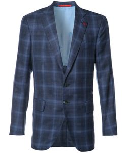 Isaia | Checked Blazer Mens Size 58 Cupro/Silk/Linen/Flax/Wool
