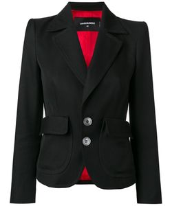 DSquared² | Notched Lapel Blazer Womens Size 38 Cotton/Silk/Polyester