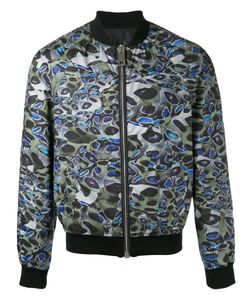 Les Hommes | Printed Bomber Jacket Mens Size 54 Polyester/Cotton/Spandex/Elastane