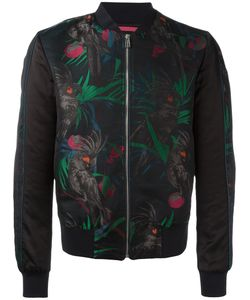 Paul Smith Jeans | Parrot Jacquard Bomber Jacket Size Small Cotton/Nylon