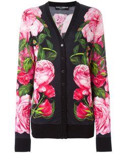 Dolce & Gabbana | Patterned Cardigan Womens Size 44 Cashmere/Silk