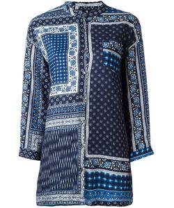 Woolrich | Patchwork Print Shirt Womens Size Medium Linen/Flax