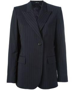 Maison Margiela | Pinstripe Peak Lapel Blazer Womens Size 44 Virgin