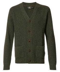 Rrl   Patch Pockets Buttoned Cardigan Mens Size Medium Cashmere