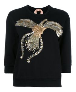 No21   Sequined Sweatshirt Womens Size 42 Cotton/Pvc/Glass/Polyester