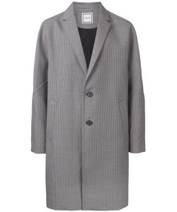 Wooyoungmi | Houndstooth Pattern Coat Mens Size 48 Mohair/Wool