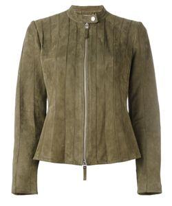 Desa Collection | Zip Up Jacket Womens Size 38 Suede/Polyester/Spandex/Elastane