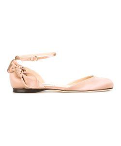 Jimmy Choo | Kirsty Flattea Ballerina Shoes Womens Size 37.5 Silk