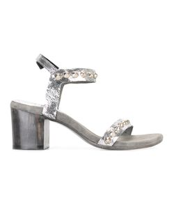 Calleen Cordero | Studded Heel Sandals Womens Size 6.5 Calf Leather/Leather/Rubber