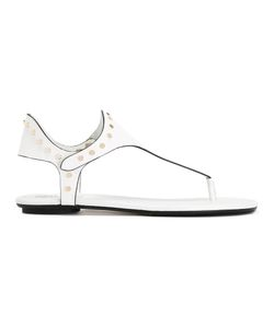 Jimmy Choo | Dara Sandals Womens Size 38 Calf Leather/Leather/Metal Other