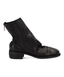 Guidi | Distressed Effect Ankle Boots Size 36 Leather
