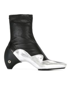 Courrèges | Contrast Boots Womens Size 39 Lamb Skin/Leather/Rubber