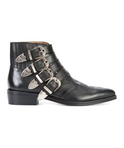 Toga | Buckled Boots Mens Size 41 Leather/Metal Other