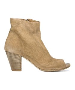 Officine Creative | Snakeskin-Effect Open Toe Ankle Boot Womens Size 40