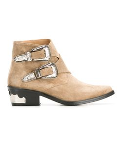 Toga | Double Buckle Boots Womens Size 40 Suede/Leather