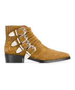 Toga | Multi-Buckle Boots Mens Size 43 Suede/Leather