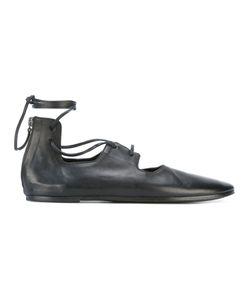 Marsèll | Lace-Up Coltellaccio Ballerinas Womens Size 38 Leather