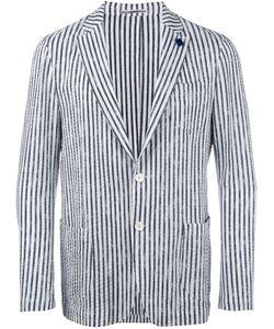 Lardini | Striped Blazer Mens Size 54 Cotton