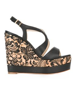 Paloma Barceló | Wedge Sandals Womens Size 40 Cork/Cotton/Leather/Leather