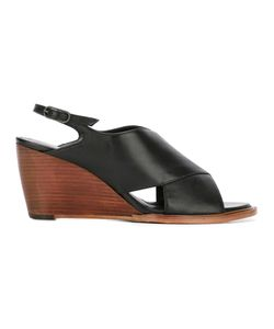 Robert Clergerie | Wedge Sandals Womens Size 36 Calf Leather/Leather