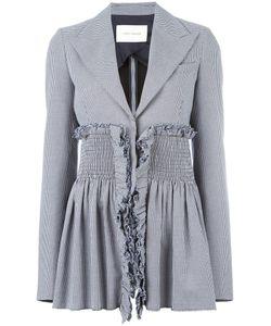 Cédric Charlier | Houndstooth Pattern Blazer Womens Size 42 Cotton/Acetate/Rayon