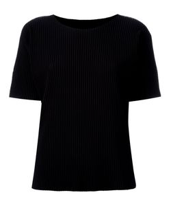 Issey Miyake Cauliflower | Ribbed T-Shirt Womens Polyester