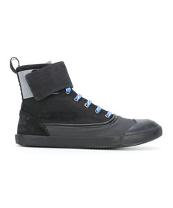 Lanvin | Strapped Hi-Top Sneakers Mens Size 7 Cotton/Rubber/Leather