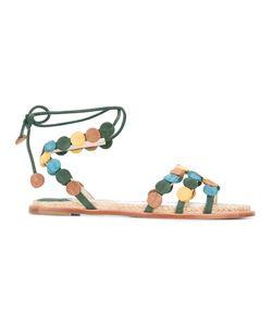 Paloma Barceló   Lace-Up Sandals Womens Size 37 Leather