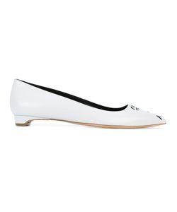 Rupert Sanderson   Pointed Toe Ballerinas Womens Size 38.5 Leather/Lamb Skin