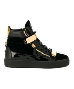 Giuseppe Zanotti Design | Embellished High-Tops Mens Size 47 Velvet/Leather/Patent