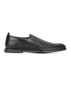FABI | Perforated Slippers Mens Size 40 Calf Leather/Leather/Rubber