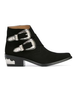 Toga | Double Buckle Boots Womens Size 39 Suede/Leather