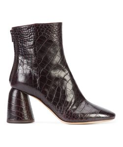 Ellery | Crocodile Effect Boots Womens Size 40 Leather