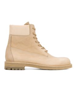 Hender Scheme | Industrial Lace-Up Boots Mens Size 44.5 Leather/Pig Leather/Rubber