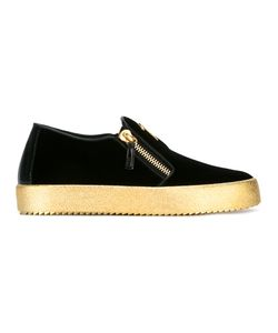 Giuseppe Zanotti Design | Slip On Sneakers Mens Size 40 Velvet/Leather/Rubber