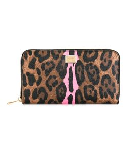 Dolce & Gabbana   Leopard Print Continental Wallet Womens Polyester/Polyurethane/Cotton