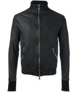 Giorgio Brato   Zip Up Jacket Mens Size 48 Cotton/Nylon/Leather