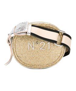 No21   Logo Plaque Shoulder Bag Womens Leather/Lurex/Polyamide